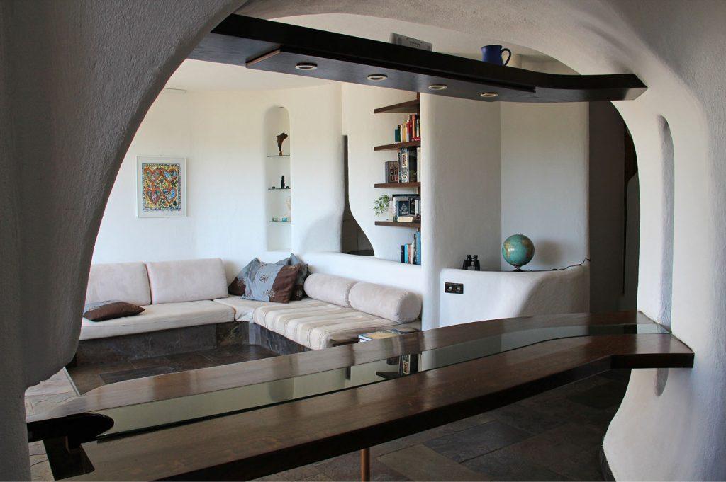 Eremitage Dahn Essbereich und Wohnzimmer