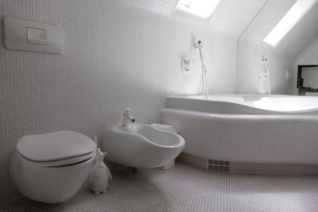 Eremitage Dahn Bad mit Badewanne